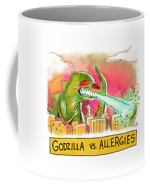 Godzilla vs Allergies Coffee Mug