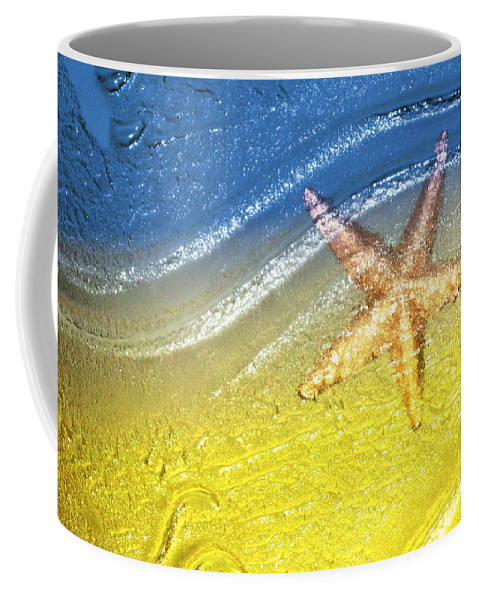 Starfish Coffee Mug featuring the photograph Going With the Flow by Holly Kempe
