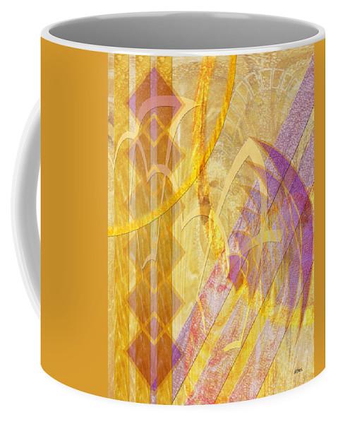 Gold Fusion Coffee Mug featuring the digital art Gold Fusion by John Robert Beck