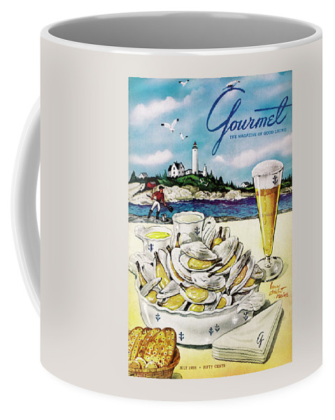 Gourmet Cover of Clams and Beer Coffee Mug