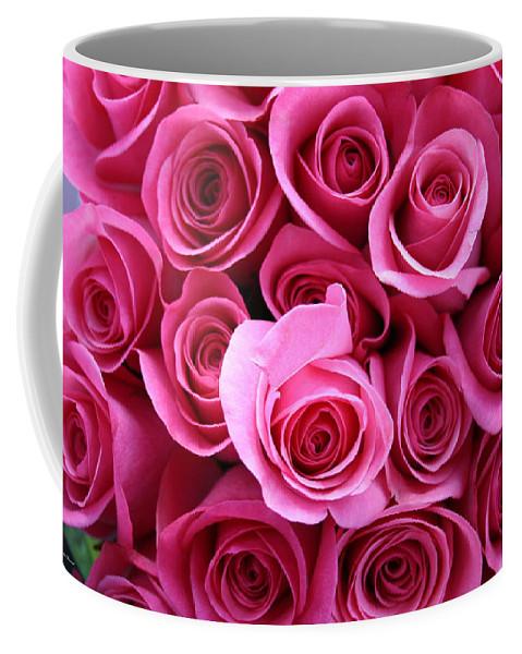 Pink Roses Coffee Mug featuring the photograph Grandma Roses by Linda Sannuti