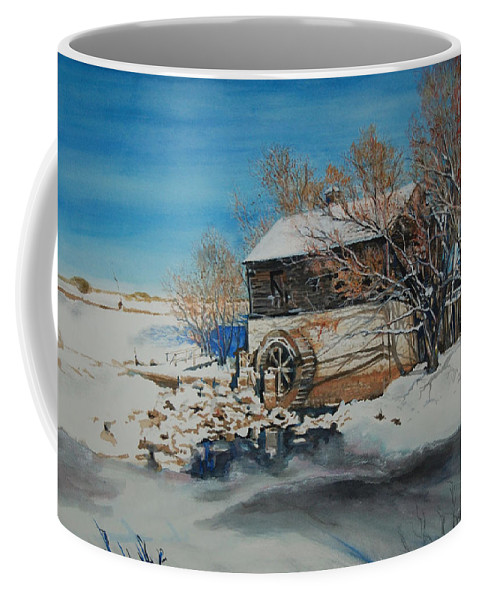 Mill Coffee Mug featuring the painting Grants Old Mill by Susan Moore