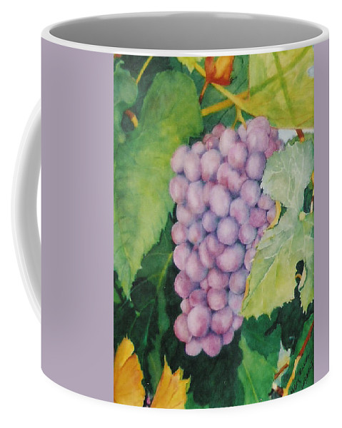 Grapes Coffee Mug featuring the painting Grapes by Mary Ellen Mueller Legault