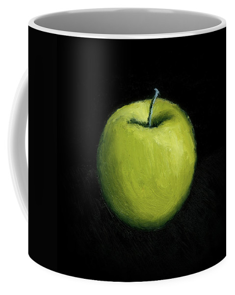 Apple Coffee Mug featuring the painting Green Apple Still Life by Michelle Calkins