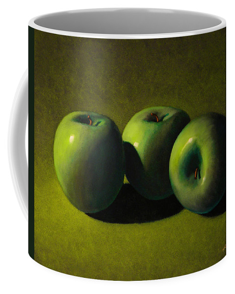 Still Life Coffee Mug featuring the painting Green Apples by Frank Wilson