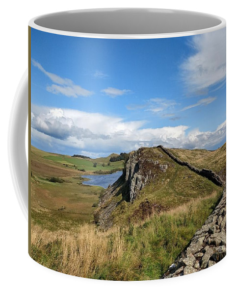 Landscape Coffee Mug featuring the photograph Hadrianswall by Pop