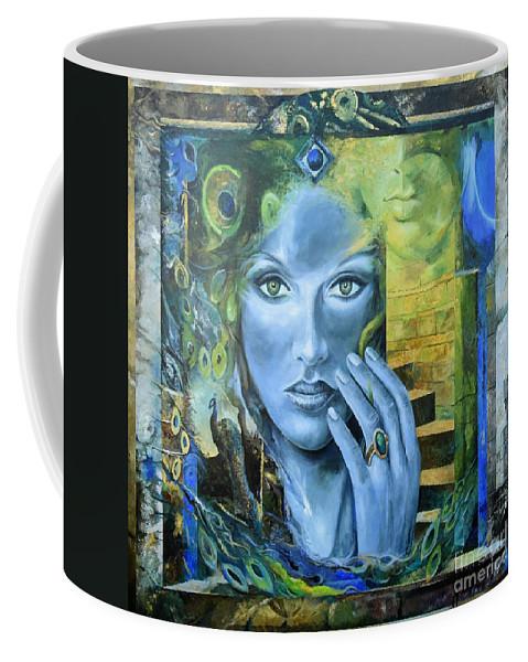 Portrait Coffee Mug featuring the painting Heavenly Garden by Sinisa Saratlic