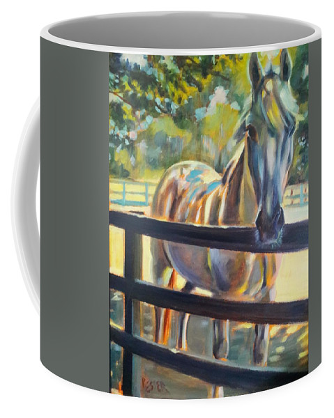 Coffee Mug featuring the painting Hot and Humid by Kaytee Esser