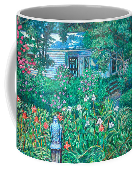 Landscape Coffee Mug featuring the painting House on Chesterbrook Road in McLean by Kendall Kessler