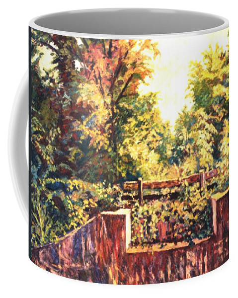 Landscape Coffee Mug featuring the painting Huckleberry Line Trail by Kendall Kessler