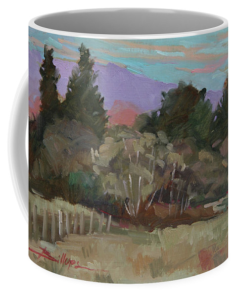 Northern California Coffee Mug featuring the painting Humbolt Fields by Betty Jean Billups