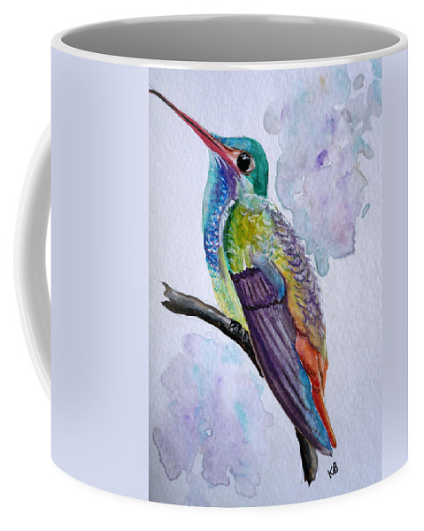 Humming Bird Painting Bird Painting Tropical Painting Caribbean Painting Coffee Mug featuring the painting Hummingbird 1 by Karin Dawn Kelshall- Best