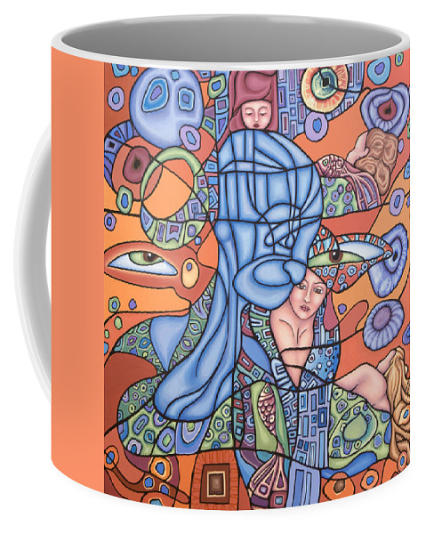 Mermaid Coffee Mug featuring the painting I See You by Judy Henninger
