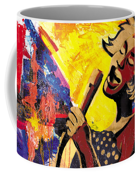 Everett Spruill Coffee Mug featuring the painting I Sings Da Blues by Everett Spruill