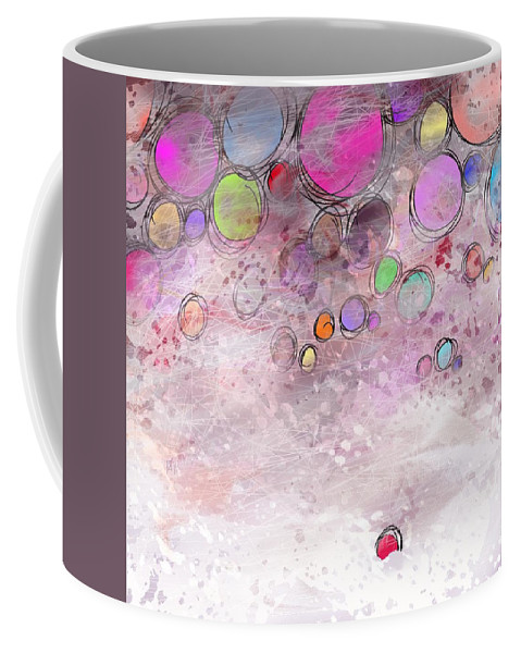 Abstract Coffee Mug featuring the digital art In a world alone by William Russell Nowicki
