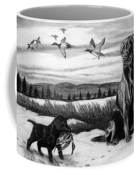 In Training Coffee Mug featuring the drawing In Training by Peter Piatt