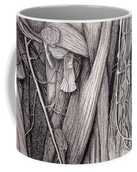 Veins Coffee Mug featuring the drawing Internal Scape by Nancy Mueller