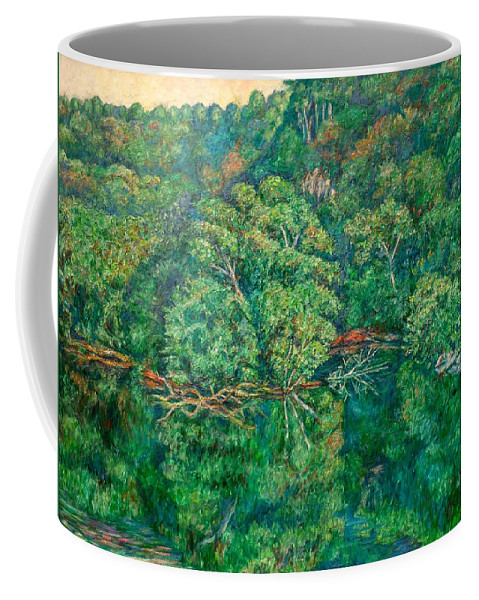 Landscape Coffee Mug featuring the painting James River Moment by Kendall Kessler