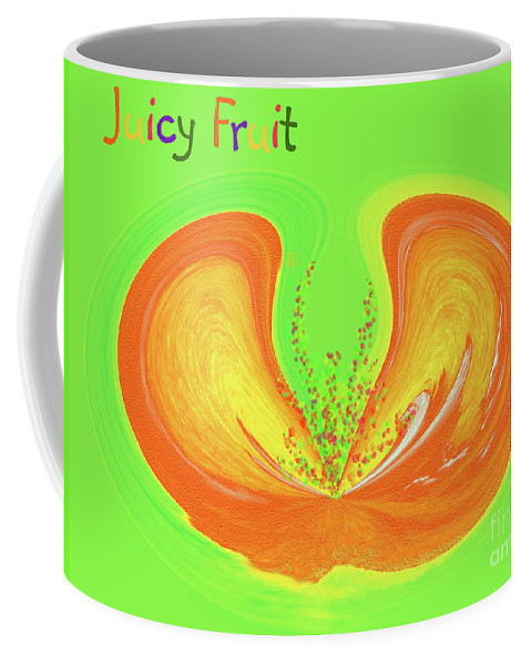 Juicy Fruit Coffee Mug featuring the painting Juicy Fruit by Methune Hively
