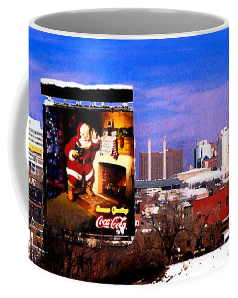City Coffee Mug featuring the photograph Kansas City Skyline at Christmas by Steve Karol