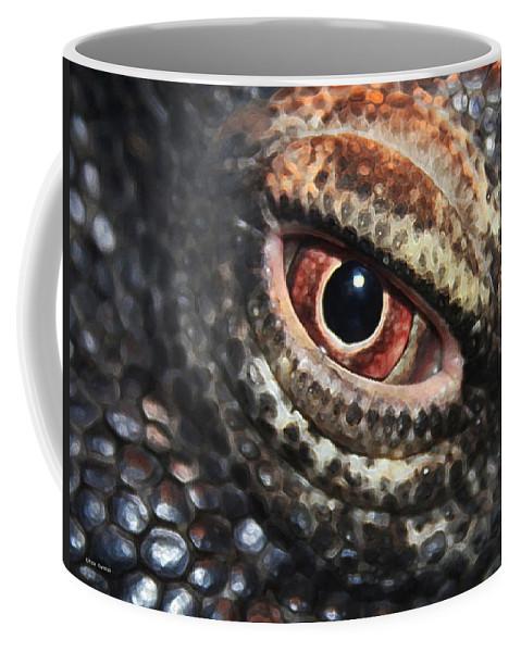 Komodo Dragon Coffee Mug featuring the photograph Komodo Dragon Eye by Linda Sannuti