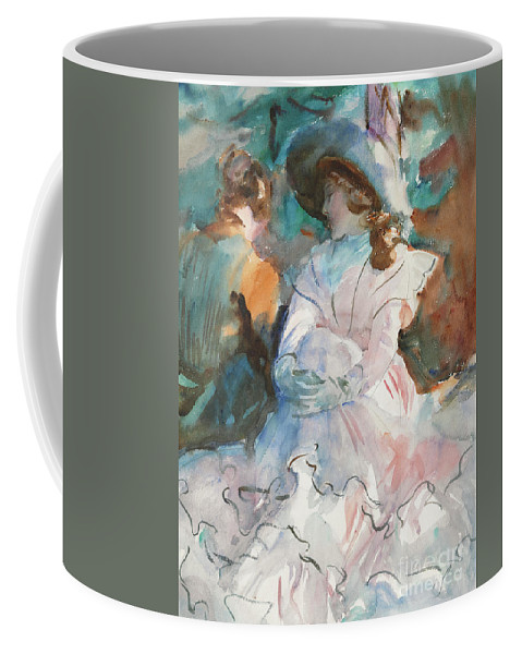 Sargent Coffee Mug featuring the painting Ladies In The Shade Abries, 1912 by John Singer Sargent