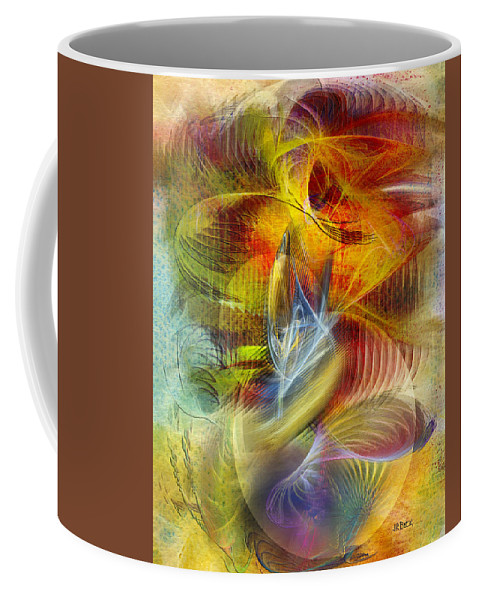 Affordable Art Coffee Mug featuring the digital art Lady And Her Shells by John Robert Beck