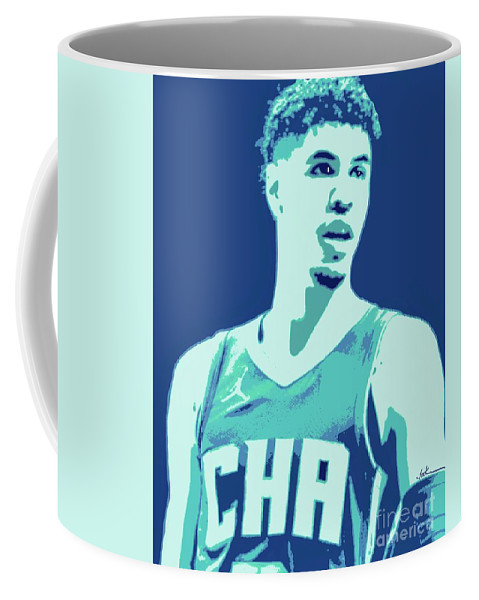 Lamelo Coffee Mug featuring the painting LaMelo Ball by Jack Bunds