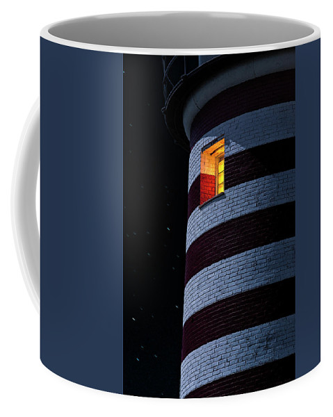 Lighthouse Coffee Mug featuring the photograph Light From Within by Marty Saccone