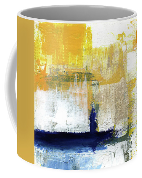Abstract Coffee Mug featuring the painting Light Of Day 4 by Linda Woods