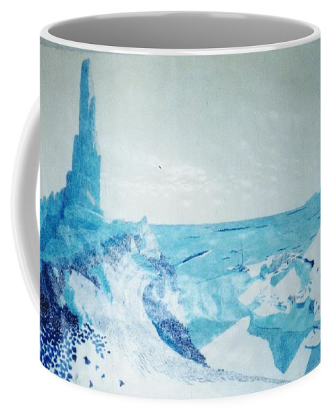 Landscape Coffee Mug featuring the painting Line of Sight by A Robert Malcom