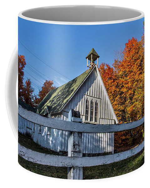 Church Coffee Mug featuring the photograph Little Church In the Woods by Francis Lavigne-Theriault