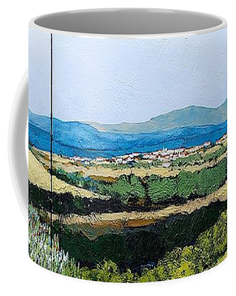 Landscape Coffee Mug featuring the painting Long Get Away by Allan P Friedlander