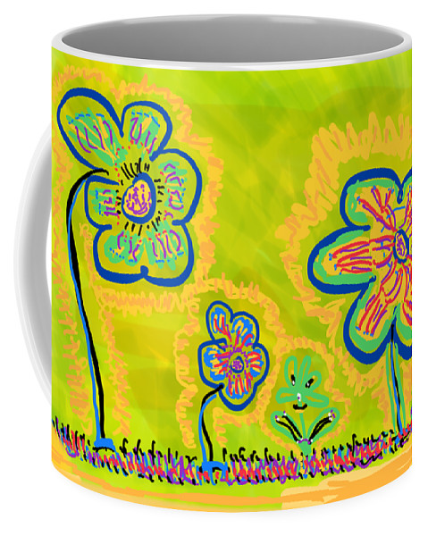 Spring Coffee Mug featuring the drawing Looking for Spring by Pam Roth O'Mara