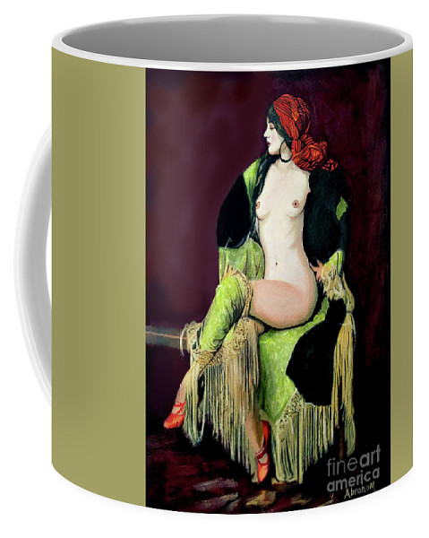 Women Coffee Mug featuring the painting Looking Good by Jose Manuel Abraham