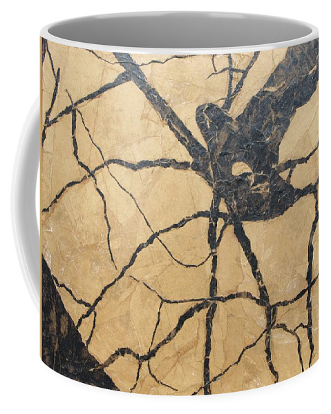 Abstract Coffee Mug featuring the painting Looking Up by Leah Tomaino