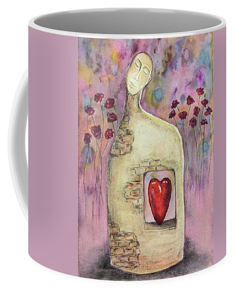 Valentines Coffee Mug featuring the painting Love Dreaming by Eve Farber