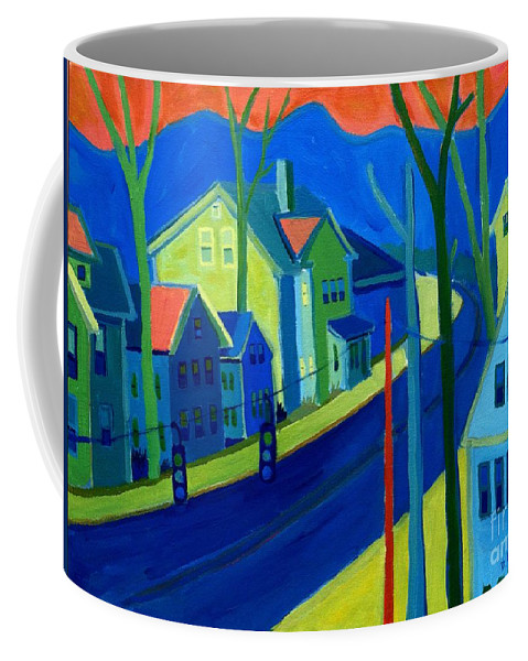 Cityscape Coffee Mug featuring the painting Lowell Deluge by Debra Bretton Robinson