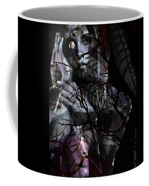 Woman Coffee Mug featuring the digital art Luna by Gunilla Munro Gyllenspetz
