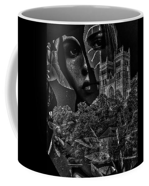 Surrealism Coffee Mug featuring the digital art Luna III by Gunilla Munro Gyllenspetz