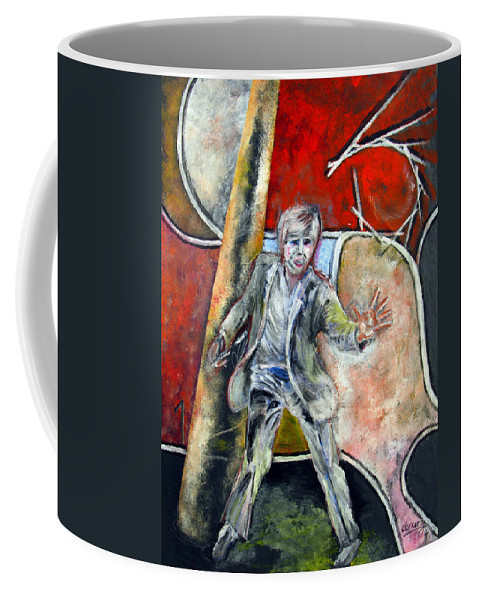 Male Coffee Mug featuring the painting Mad World by Tom Conway