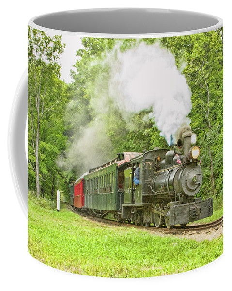 Abstracts Coffee Mug featuring the photograph Maine Coast Steam by Marilyn Cornwell