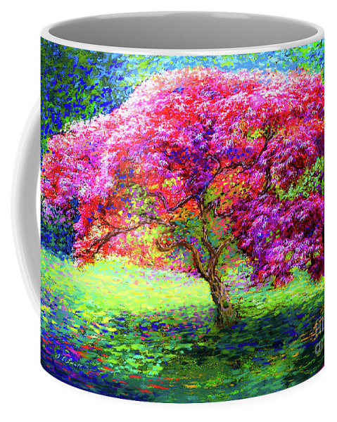 Landscape Coffee Mug featuring the painting Maple Tree Magic by Jane Small