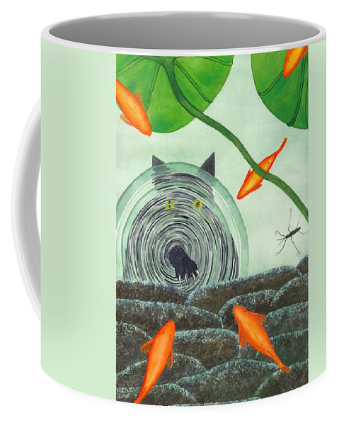 Goldfish Coffee Mug featuring the painting Marco Polo by Catherine G McElroy