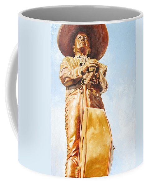 Mariachi Coffee Mug featuring the painting Mariachi by Laura Pierre-Louis
