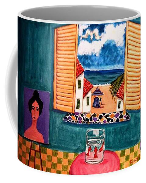 Guitar Coffee Mug featuring the painting Marina by Rusty Gladdish