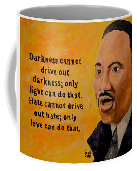 Oil Coffee Mug featuring the painting Martin Luther King Jr. by Roger Snell