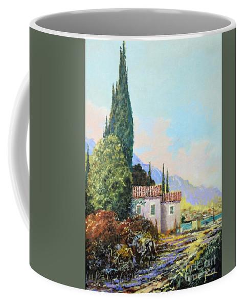 Original Painting Coffee Mug featuring the painting Mediterraneo 2 by Sinisa Saratlic