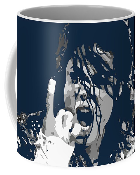 Legend Coffee Mug featuring the digital art Michael Jackson 1 OHS by Ahmad Nusyirwan