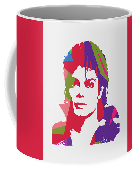 Michael Jackson Coffee Mug featuring the digital art Michael Jackson 2 POP ART by Ahmad Nusyirwan